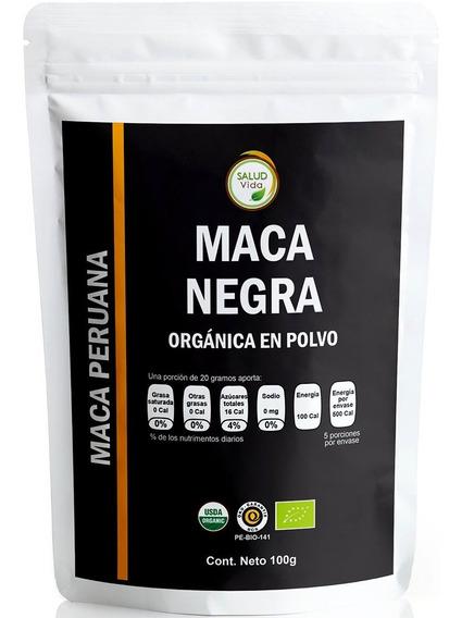 Maca Negra En Polvo Orgánica 100g.