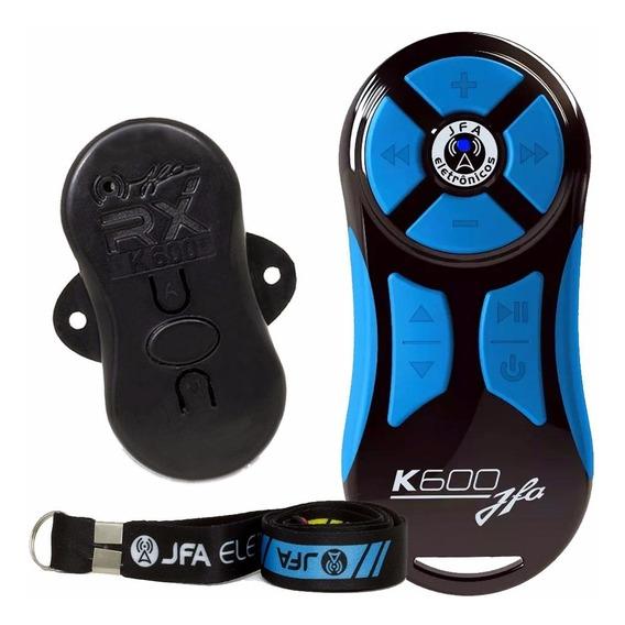 Controle Longa Distancia Jfa Preto Com Azul K600 M Remoto