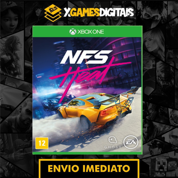 Need For Speed Heat Xbox One Midia Digital + 1 Jogo Brinde