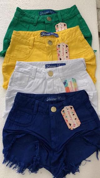 40 Shorts Jeans Feminina Hot Pant Cintura Alta