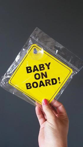 Imagen 1 de 5 de Señal Seguridad Baby On Board Para Carro Bebe A Bordo Nuevo