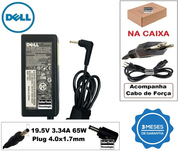 Fonte Para Notebook Dell 19.5v 3.34a 65w Novo!