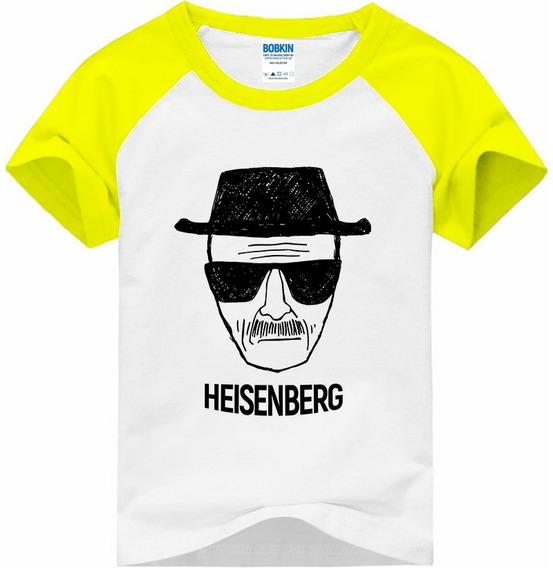 Camiseta Raglan Infantil Breaking Bad Heisenberg