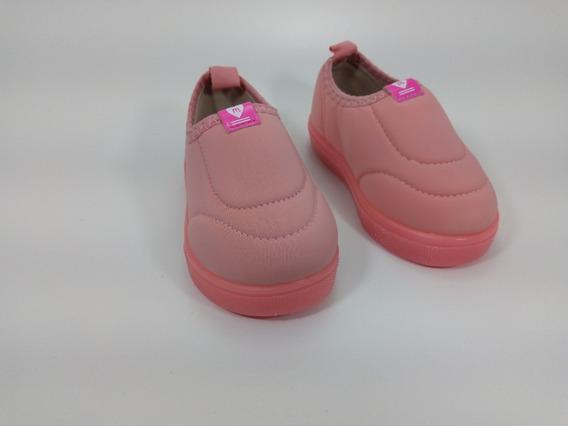 Tênis Casual Neoprene Molekinha Coral - 2118525