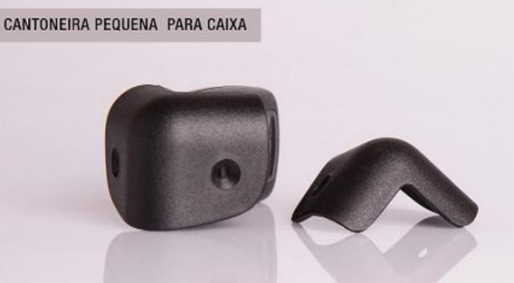Kit 8 Cantoneiras Pequenas + 1 Alça Superior P/ Caixa De Som