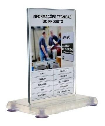 Kit 5 Peças / Display Expositor De Mesa - Tamanho A4