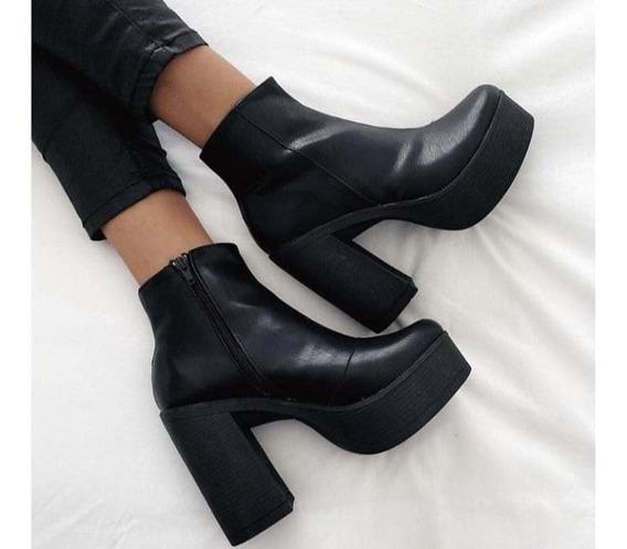 Zapatos Con Taco Cuadrado