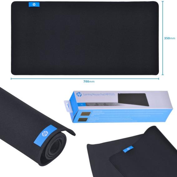 Mouse Pad Gamer Grande Hp (700*350*3mm) Preto Mp7035 Com Nfe