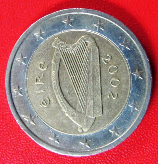 Irlanda Moneda Bimetalica 2 Euros 2002 Au Km #39