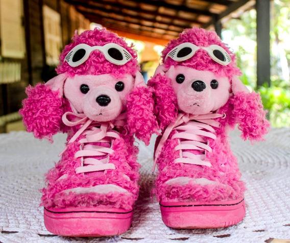 Tênis adidas Bear Jeremy Scott Teddy Poodle Rosa Pink