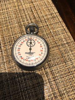 Cronometro Análogo Metálico Antiguo
