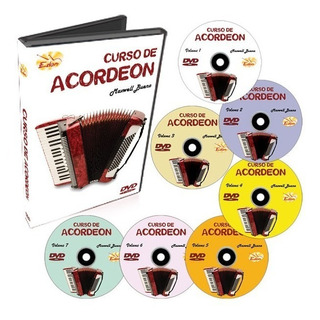 Curso Acordeon Sanfona Iniciante Em Dvd - 7 Dvds Edon