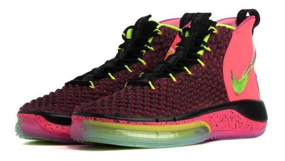 Tenis Nike Alphadunk Rosa, Negro, Amarillo