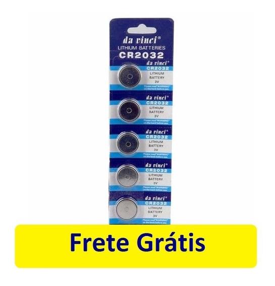Cartela 5 Unid Bateria Cr2032 Cmos Bios Frete Grátis
