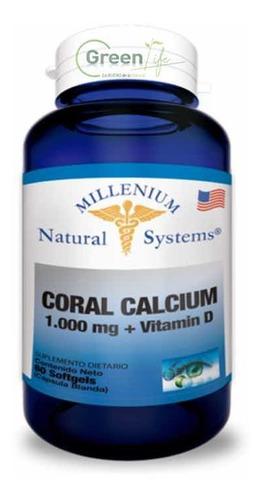 Calcio De Coral Orgánico 1000mg + Vitamina D X60 Cápsulas
