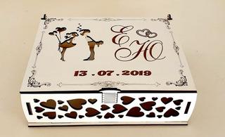 Caixa Convite De Casamento Branca Mdf - 10 Caixas