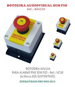 Botoeira Audiovisual Para Alarme Pne Sem Fio Ref.: Vc50