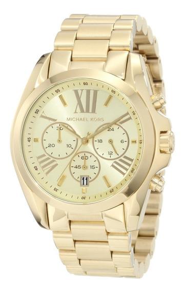Relógio Michael Kors Mk5605 Bradshaw Dourado Original Eua