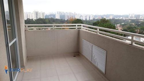 Apartamento Studio 36m Semi-mobiliado Com Lazer Completo No Alto Da Boa Vista - Ap6006