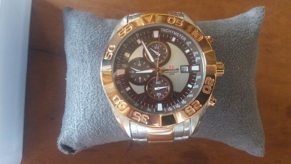 Relógio Seculus Folhado A Ouro