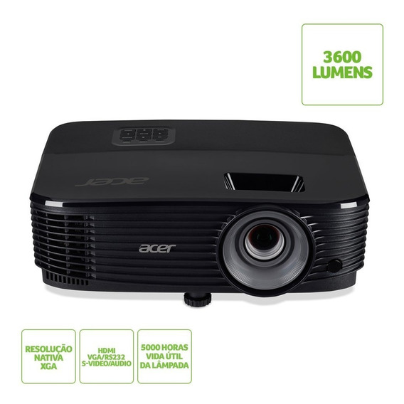 Projetor Acer X1323wh Wxga, 3700 Lumens, Vga , Hdmi