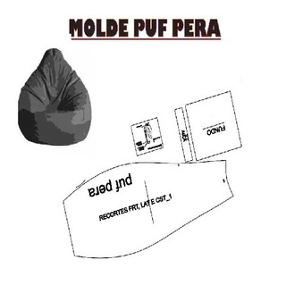 Kit Patrones Puff Molde Muebles Forma De Pera