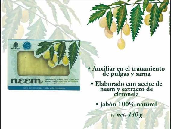 5 Jabones Antipulgas Neem Y Citronela 140 G C/u 100% Natural