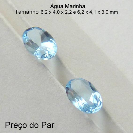 Água Marinha Natural Pedra Preciosa Preço Do Par 3109b