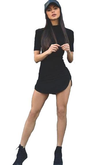 Vestido Manga Corta Vestidos Sexy Entallado Ajustado M.1