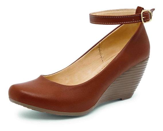 Zapato Casual Cuña Color Tan Mujer