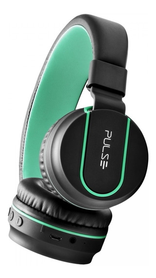 Headphone Bluetooth Pulse Preto E Verde Ph215