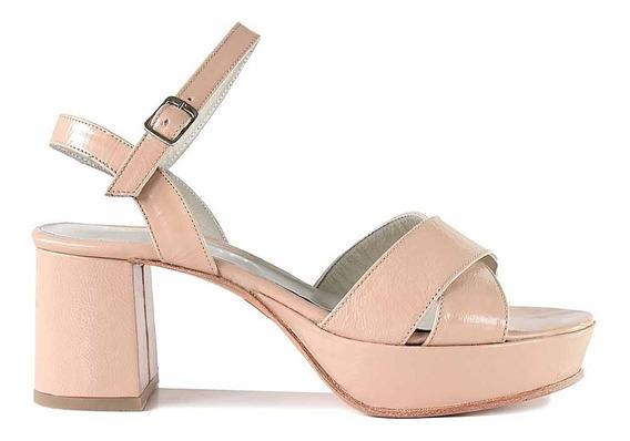 Sandalia Cuero Mujer Briganti Zapato Vestir - Mcsd04800 Ch