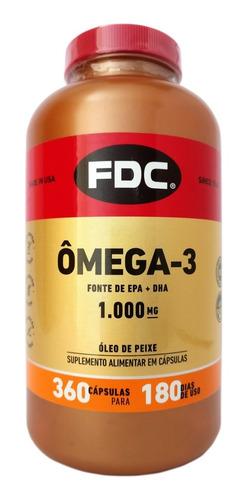 Omega-3 Importado Fdc 360 Cápsulas 1000mg ( Para 6 Meses )