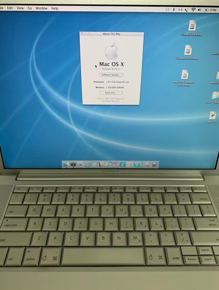 Apple Powerbook G4 A1106 - Funcionando. Peça De Colecionador