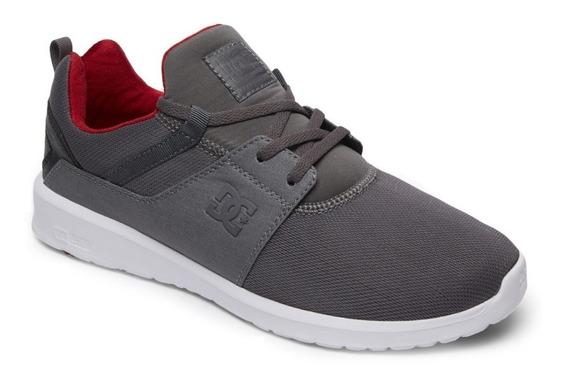 Zapatillas Dc Shoes Mod Heathrow Gris Rojo Coleccion 2019