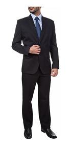 Terno Slim 2 Botões Paletó+ Calça + Camisa + Gravata + Frete