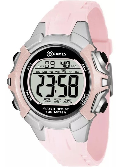 Relógio Feminino Digital X - Games Xfppd053 Cor Rosa