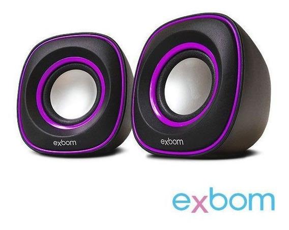 Caixa De Som 2.0 Para Pc E Smartphone Exbom Cs-46