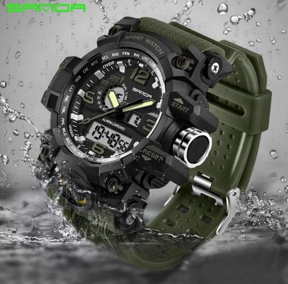 Relógio Militar Verde Sanda (envio Imediato) Pronta Entrega