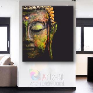 Buda Face02-gr Decorativo- Canvas- Calidad De Museo