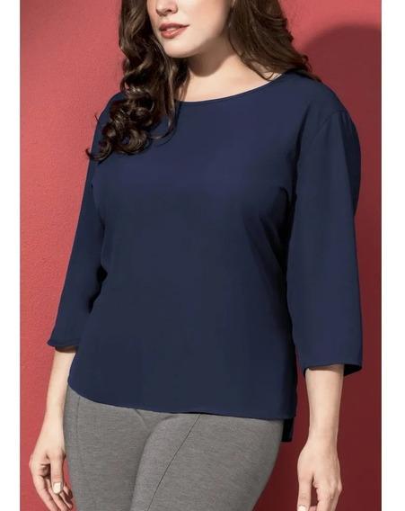 Blusa Casual Mujer Look Minimalista Segura Fresca 1392517