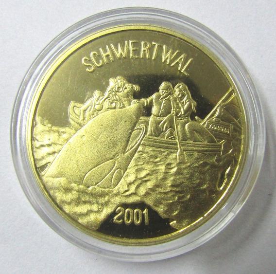 Corea Del Norte 20 Won 2001 Moneda Ballena Orca Schwertwal