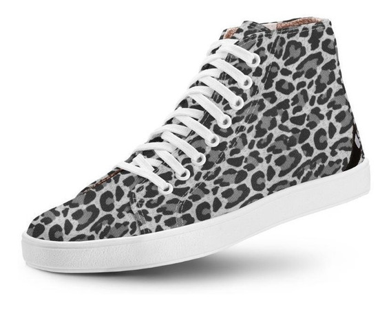 Tênis Usthemp Long Vegano Casual Estampa Leopard