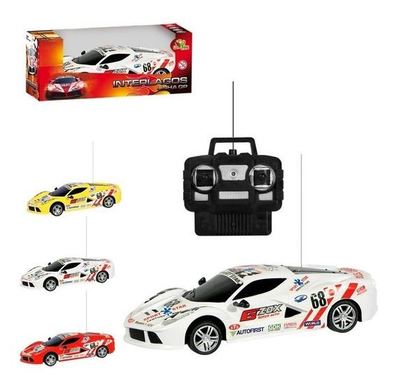 Carro Gp Interlagos Com Rádio Controle 4 Funções Racer