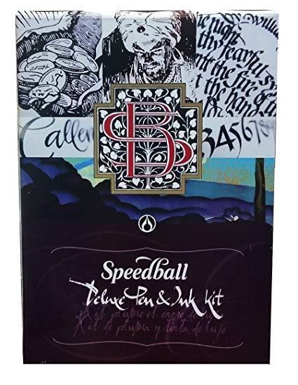 Speedball Set De Caligrafia Deluxe 18 Piez Plumas