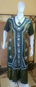 Vestido Moda Plus Size Longo/moda Evangélica C/manga C286