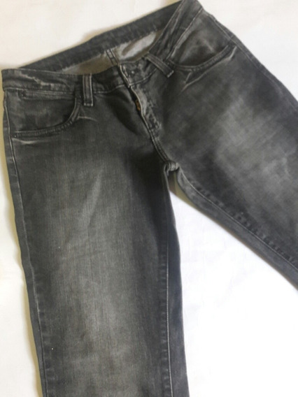 Calca Jeans Preta Brilho Basica Zoomp 40