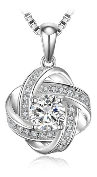 Dije Celtic Knot Circonia 1.9 Ct Ak Jewelry Plata Sólida 925