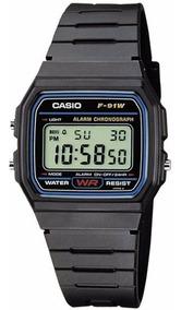 Relógio Didital Casio F-91w1dg Original Série Prata C/ Caixa