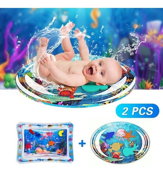 Tapete De Água Inflável Atividades Almofada Bebê 2pcs